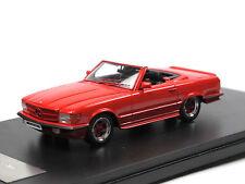 GLM 206101 - 1983 AMG MERCEDES-BENZ 500 SL (r107) Red 1/43 RESIN MODEL