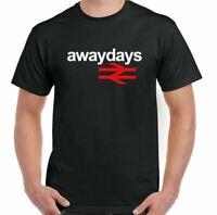 Away Days T-Shirt British Rail Mens Retro Football Hooligan Made for Standing