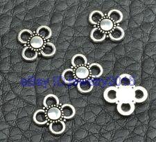 100pcs Tibetan silver charm Connectors beads fit necklace bracelet 9mm G3402