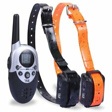 Dog Training Collar Shock With Remote Waterproof 1100 Yard Electronic For 2 Dogs
