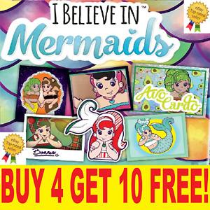 "TOPPS I Believe In Mermaids  SINGLE STICKERS ""BUY 4 GET 10  FREE"""