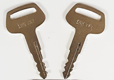 1 Pair 2 Ignition Keys 787 for Komatsu Excavator Dozer Backhoe Heavy Equipment