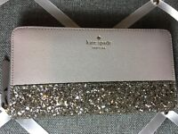 5d8054d7e2b4 NWT Authentic KATE SPADE neda zip around wallet greta court Glitter LAST  ONES