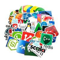 50PCs Sticker lot Programmer logo Java JS angular  python PHP Linux for laptop