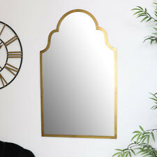 Arched Gold Wall Mirror Moroccan boho vintage luxurious glamorous home decor