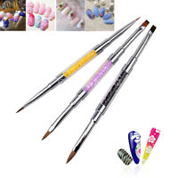 1 PCS Double-ended Pen Brush Nail Art Manicure Painting Tip Gel Drawing Tools