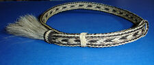 "Western Cowboy/Cowgirl HAT BAND Woven 5 Strand Horsehair 5/8"" Wide W/Tassel"