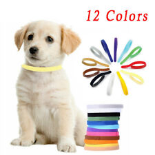 12 Adjustable Newborn Puppy&kitten ID Collar Bands Breeders Whelping Pet