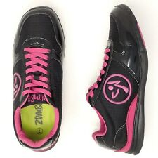 Zumba Womens Dance Fitness Athletic Shoes Black/Pink Aerobic Sneakers Size 7
