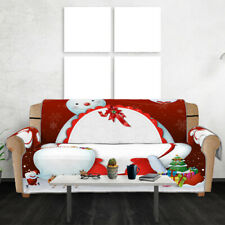 Xmas Snowman Sofa Cover Couch Cushion Pet Slipcover Furniture Protector Home