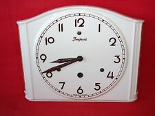 ANCIENNE HORLOGE MURALE JUNGHANS ART DECO EN FAIENCE / PENDULE OLD CLOCK