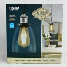 Feit Electric Dimmable LED Vintage Pendant Light Brushed Nickel Free Shipping