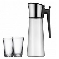 WMF Basic Wasserkaraffe mit Griff + 2 Gläser (0618