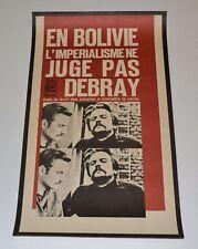 Political OSPAAAL Solidarity 1967 Original Cuban Poster.Bolivia.Debray.French