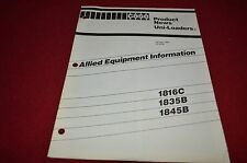 Case Tractor 1816C 1835B 1845B Skid Steer Loader Dealer's Brochure YABE5