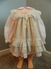 Vtg Bryan ruffle lace 2 piece pinafore dress size T3