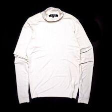 Raf Simons men's t-shirt long sleeve size 54 cream white fall winter 2008 2009