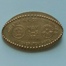 Ny Sheraton Hotel 1974 Greater New York Coin Convention Elongated Israel Coin