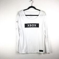 Microsoft XBOX Women's Long Sleeve Black & White T-shirt Branding Promo Sz Med