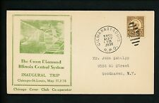 US Postal History Railroad Train Companies Illinois Central 1936 Gilman  RPO