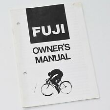 Fuji Bicycle Owners Manual Factory Issue Good Cond. 1981 Nichibei Fuji 34 pages