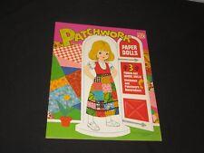 Vintage PATCHWORK Paper Doll Set Saalfield Publishing Never Used  (m730)