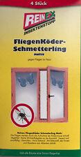 Reinex 4 Stück Fliegenköder Fliegen Köder Fenster Schmetterling Motiv geruchlos