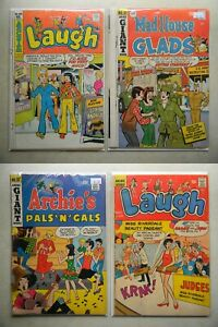 Archie's Mad House Glads #81 Pals n Gals #37 Laugh #234 (1966, Archie) LOT of 4