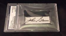 John Glenn Signed Cut PSA Space Legend Autograph