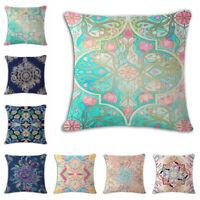 Decorative pattern Linen Cotton Throw Pillow Case Cushion Cover Home Sofa Decor