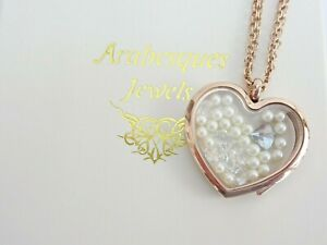 ARABESQUES CHARM POTS Blue Oyster & Pearl living memory/floating pendant/locket