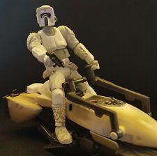 Star Wars Legacy ESB Hoth Imperial Speeder Bike Patrol w/Biker Scout Figure Lot