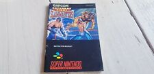 * Super Nintendo * Saturday Night Slammasters * Manual ONLY! * PAL EUR * SNES *