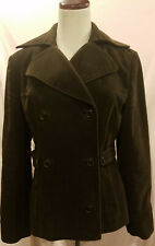 Womans Cole Haan Coat Double breasted G 111 Apperal Size 6 100% Cotton