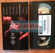 ☀️ Backstab VHS James Brolin Isabelle Truchon RARE MINT