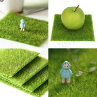 Artificial Turf Synthetic Grass Fake Lawn Fairy Garden Ornament Dollhouse Decor