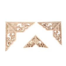 Wood Carved Corner Onlay Applique Frame Home Decor Furniture Craft Unpainted H&T