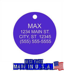 Custom Engraved Dog ID TAG PERSONALIZED Pet Cat Name Tags BUY 3 TAGS GET 1 FREE!
