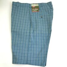 Vintage Levi's  Sta-Prest Blue Plaid Shorts mens  size 30 NOS  with tags