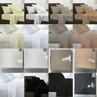 100% Egyptian Cotton Fitted Sheets Flat Sheet Duvet Cover 200TC Single All Size