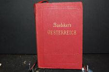 Guide baedeker; Osterreich, Ohne Dalmatien, Ungarn und Bosnien 1907