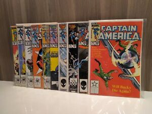 Captain America 10 issue comic lot - 297 305 321 322 325 326 327 328 330 335