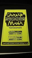 Genuine 1999 SANTANA MANA Music Concert Poster Flyer Shoreline Ad W/ OZOMATLI