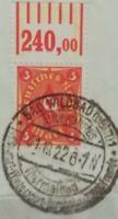 Infla 3M Posthorn 1921 WZ 2 Oberrand Mi.Nr:192 W 1-4-1/1-5-1 Sonderstempel