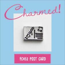 LOTFC452 Charmed! I LOVE YOU POST CARD Charm 4 Living Locket & Origami Owl Stone