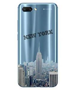 Huawei Honor 10 Coque Souple Transparente et Résistante avec motif (New York)