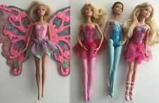Lot  4 BARBIES  MATTEL Ballerines et FÉES MAGIQUE,princesses