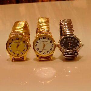 Fashion Womens girls Simple Dial Elastic Strap Bracelet Quartz Wrist Watch