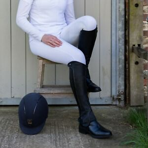 Just Chaps Saltos Half Chaps in Premium Leather Adult sizes in Black & Brown