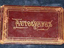 1881-85 Antique Autograph book with 50 signatures.